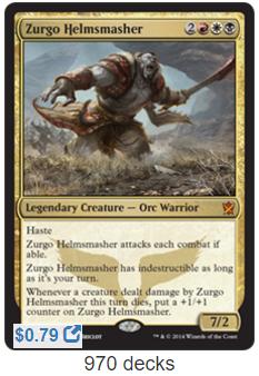 The Chopping Block — Zurgo, Helmsmasher – EDHREC